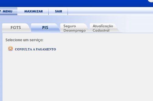 Consulta Online a Pagamento PIS