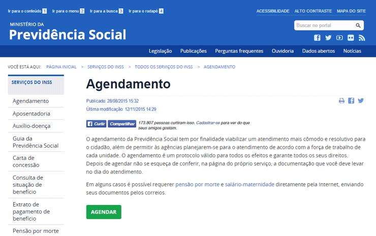 Agendamento Previdência Social
